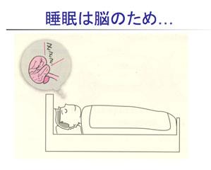 睡眠は能のため